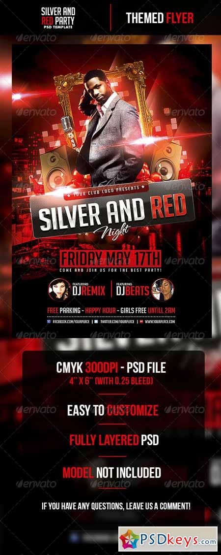Silver and Red Night Flyer Template 4718441 Free Download – Red Flyer Template