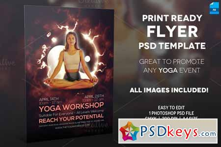 Yoga Event A4 Flyer Template 237904 Free Download Photoshop
