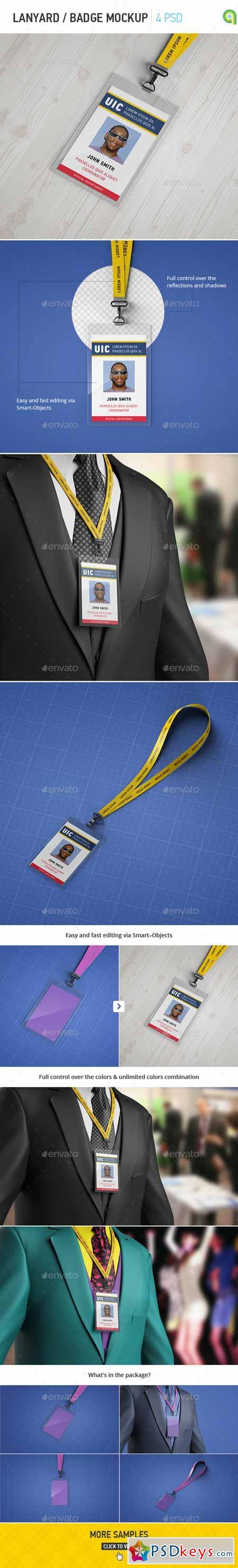 Lanyard Badge Mockup 10749940