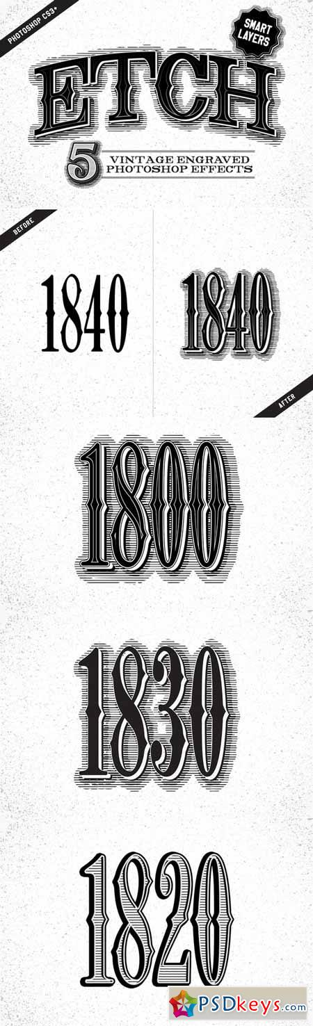 Etch Vintage Photoshop Effects 100647