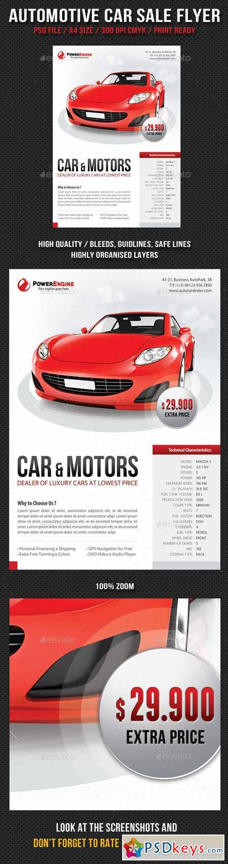 Automotive Car Sale Rental Flyer 10794339 Free Download – Car for Sale Flyer