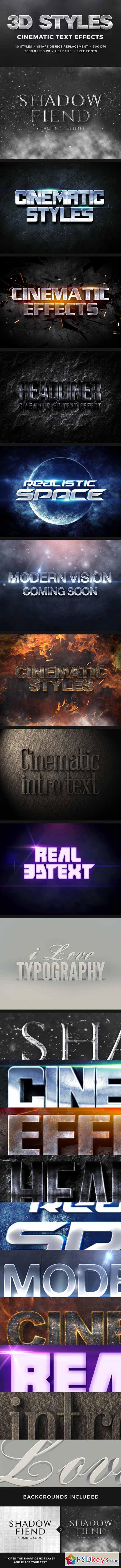 3D Cinematic Text Effects Vol 1 11031893 » Free Download