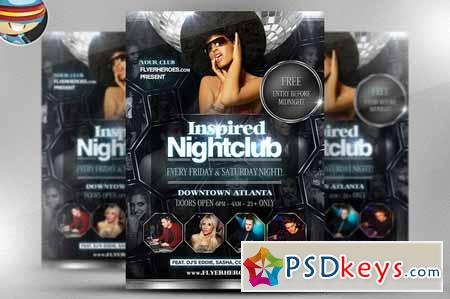 Inspired Nightclub Flyer Template 17531 » Free Download