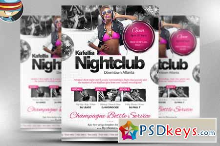 Kafellia Nightclub Flyer Template 17530 » Free Download
