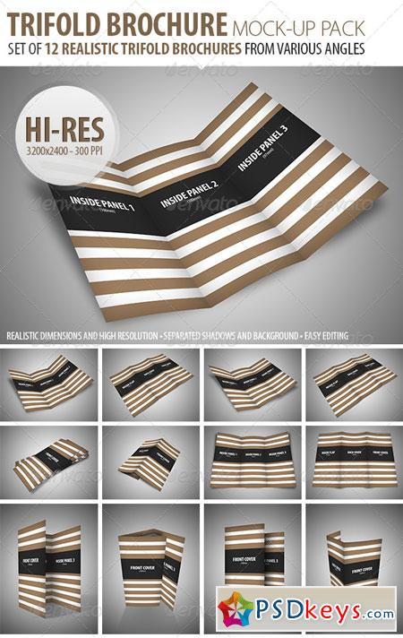 Trifold Brochure Mock-Up Pack 7003859