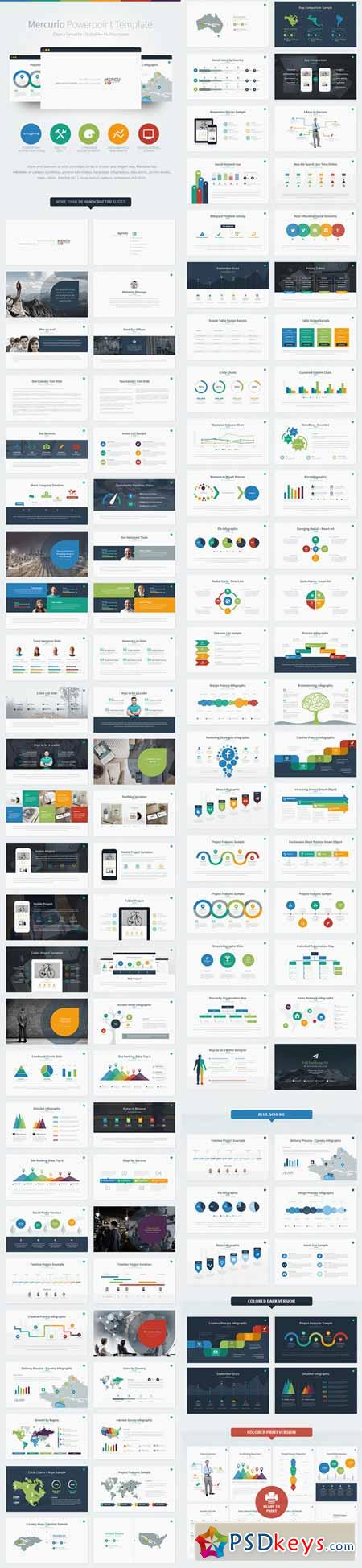 Mercurio powerpoint presentation template 8527176 free for Powerpoint templates torrents