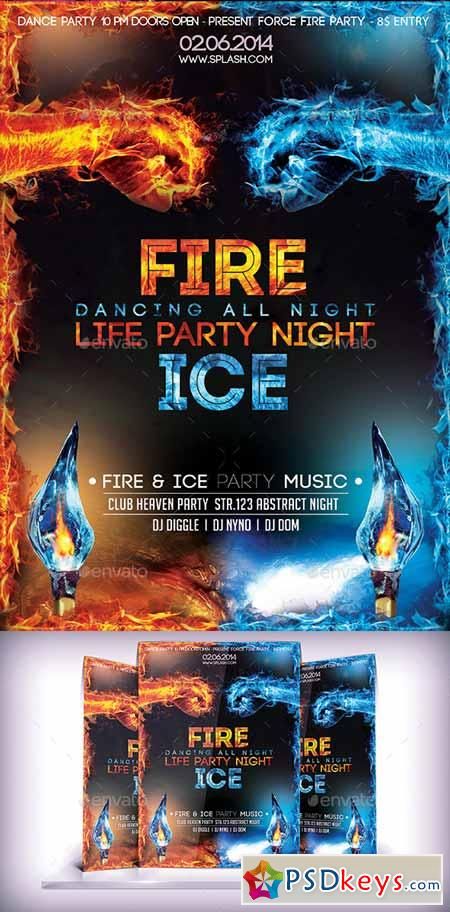 fire  u0026 ice party flyer 9221177  u00bb free download photoshop