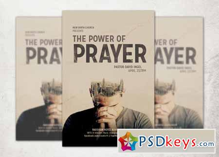 the power of prayer church flyer 247102