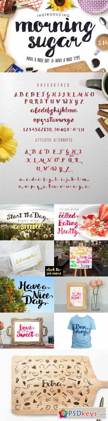 Morning Sugar Typeface + Extra ! 248359