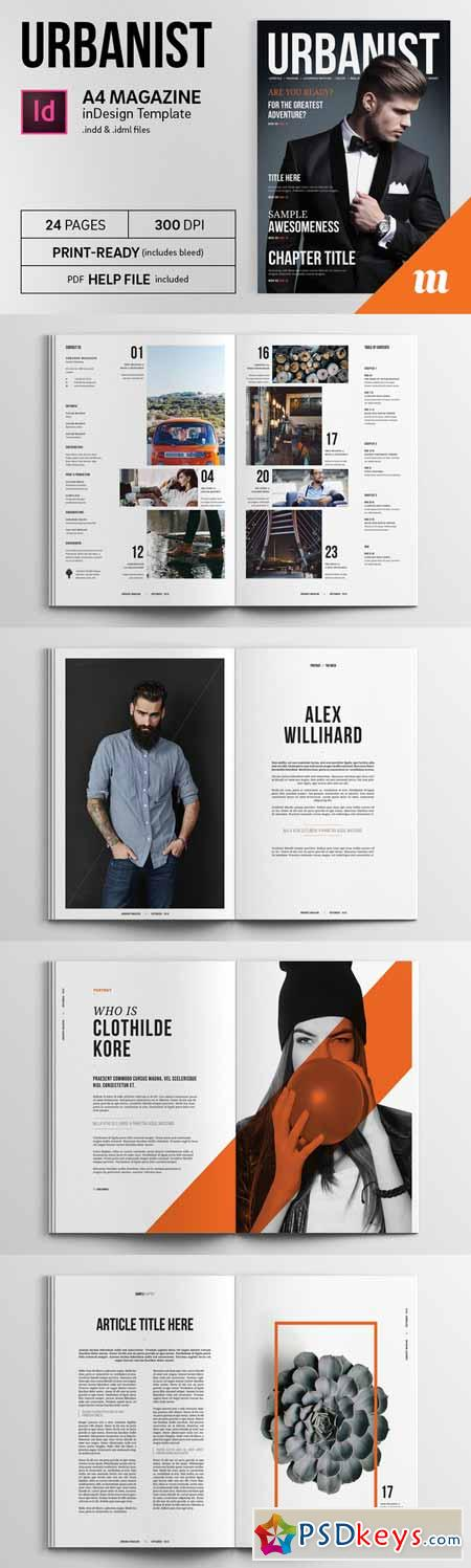 Urbanist Magazine InDesign Template 244407 » Free Download Photoshop ...