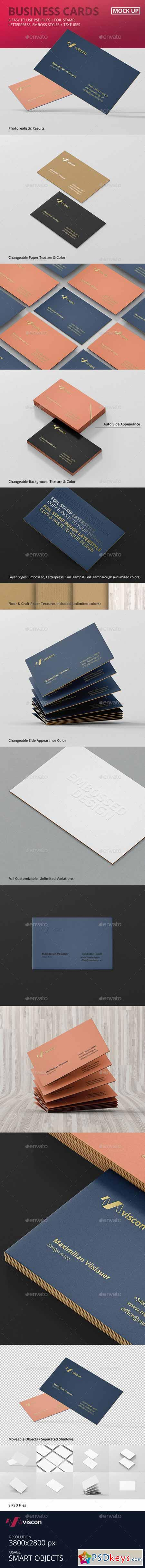 Business Cards Mock Ups Free Download shop