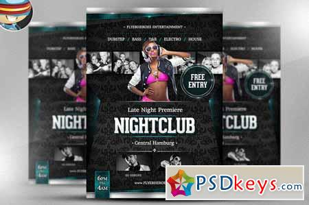 Late Night Premiere Flyer Template 17482