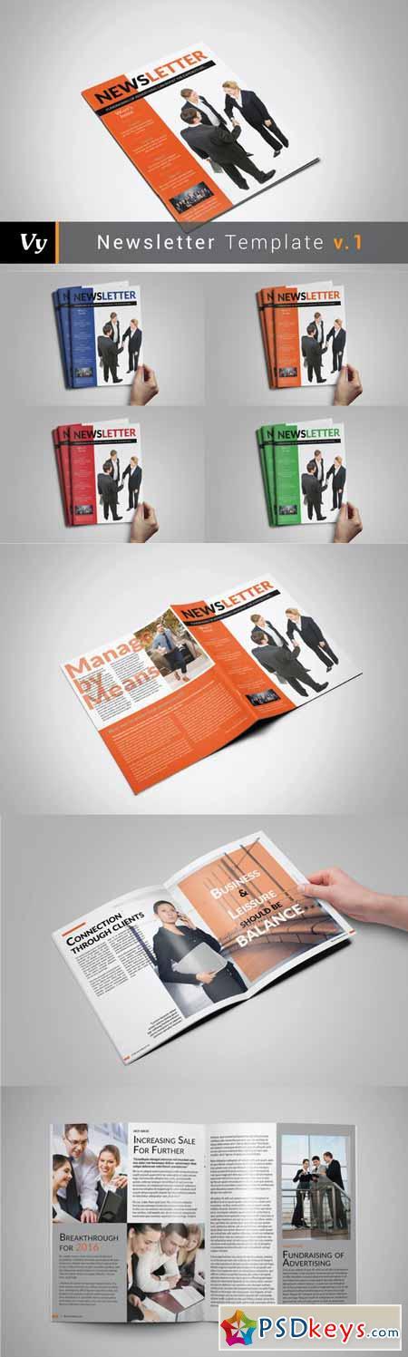 Business Newsletter Template 247310