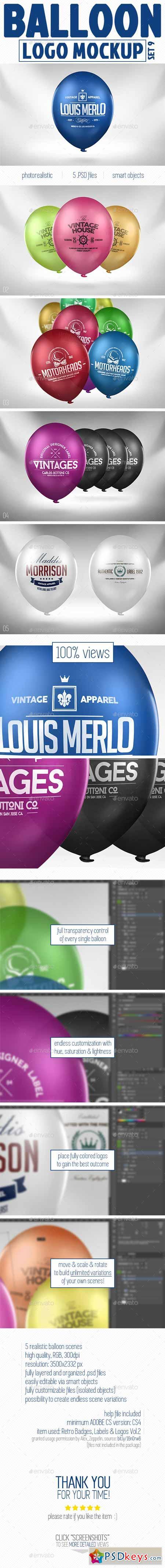 Balloon Logo Mock-up 10986934