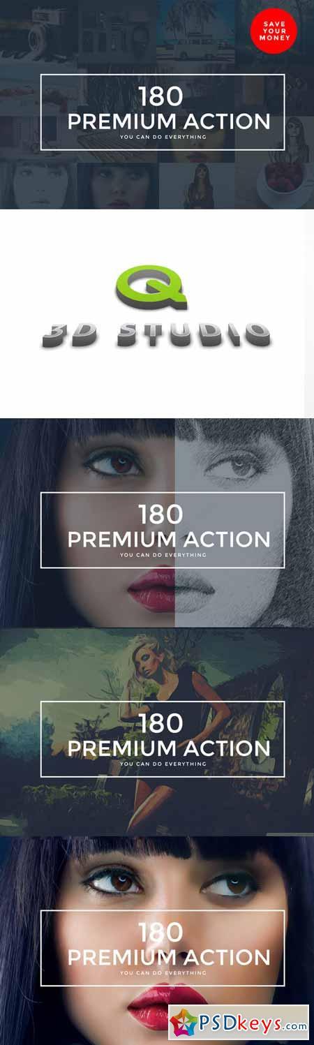 180 Premium Photoshop Action 249729