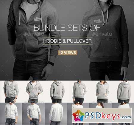 Hoodie Pullover Bundle Mock up 10997915
