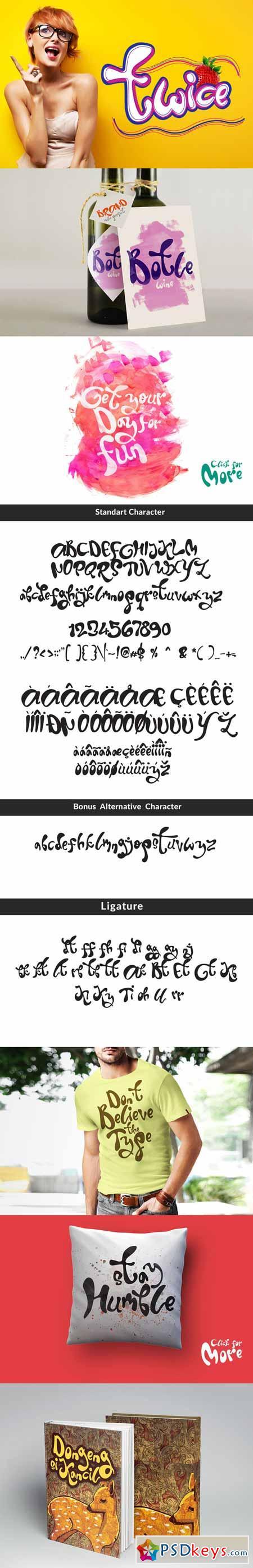 Twice Display Typeface 249910