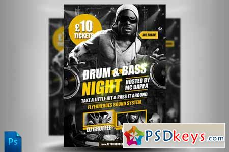 Drum and Bass Flyer Template 226