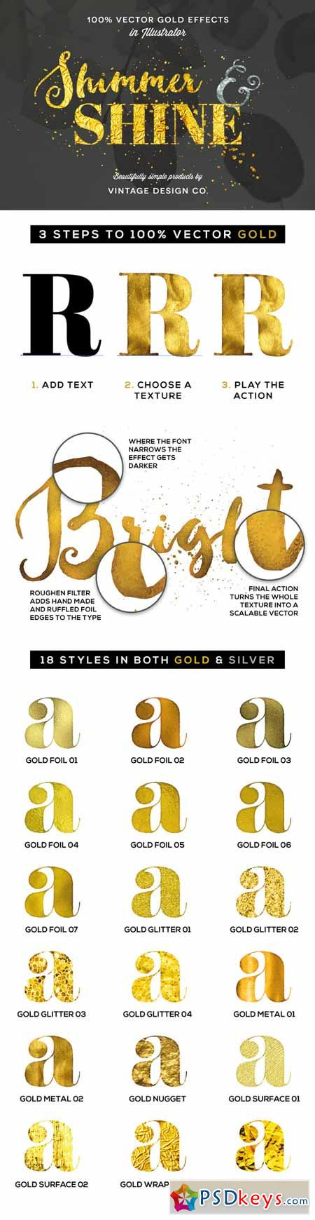 Shimmer Shine 100 Vector Gold 236592 Free Download Photoshop