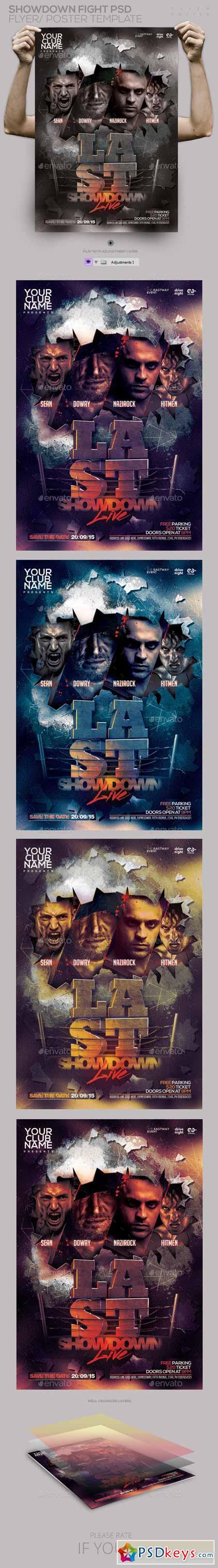 Showdown Fight PSD Flyer Poster 11252809 Free Download Photoshop – Showdown Flyer Template