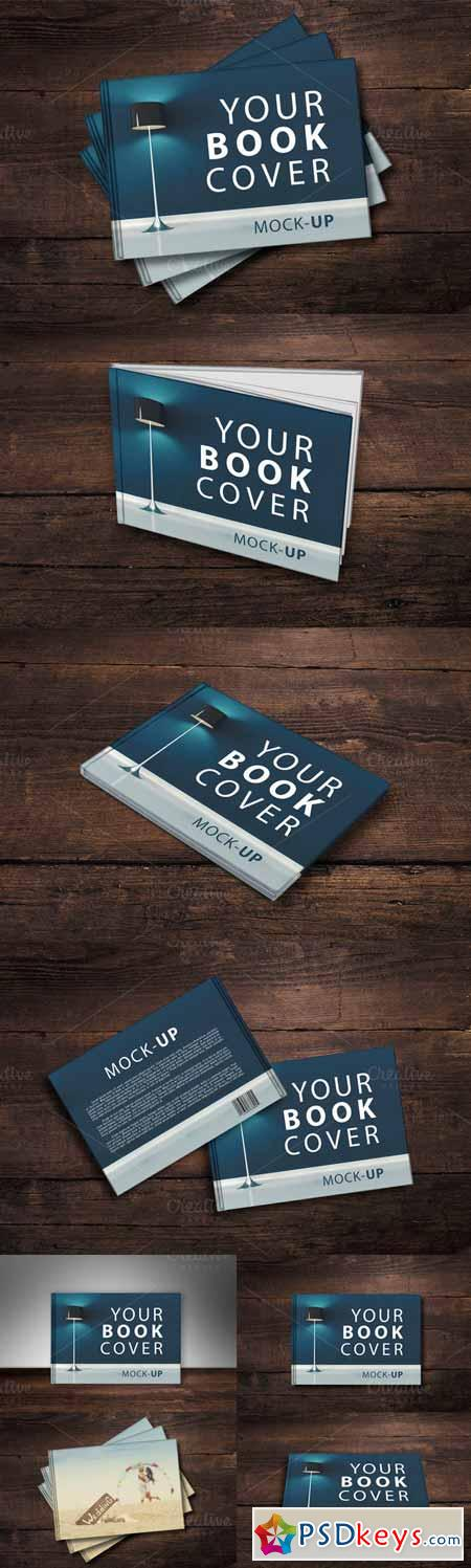 Cover Up Book : Book cover mock up v  free download photoshop