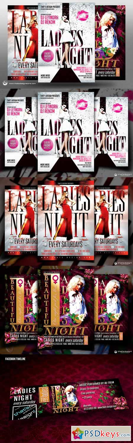 Ladies Night Flyer Bundle V3 253911