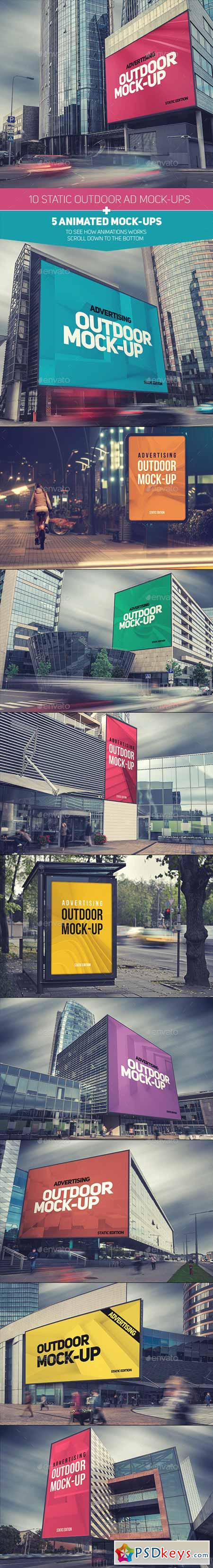 Animated Outdoor Advertising Mock-ups 9351792