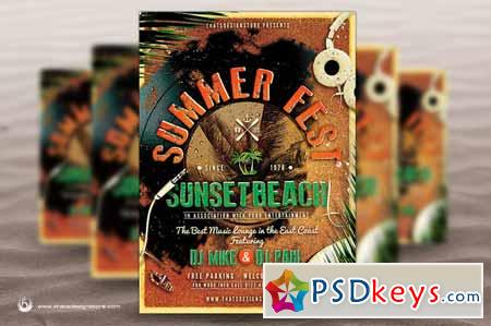 Summer Fest Flyer Poster Template 254836