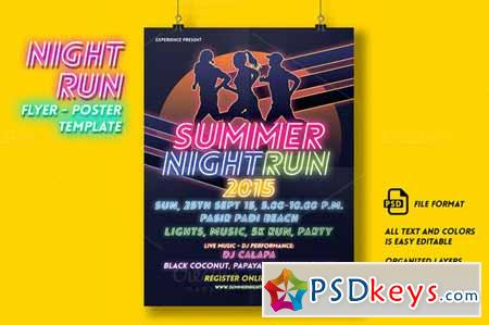Night Run Event Flyer & Poster 256356