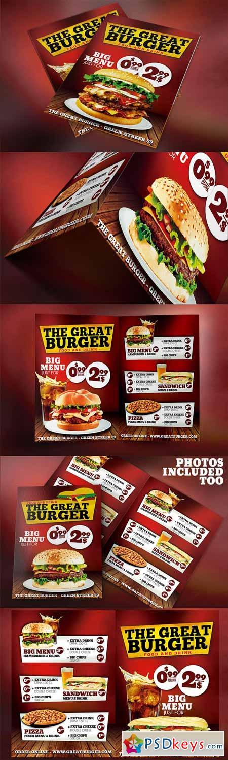 burger fast food menu restaurant psd 253358 » free