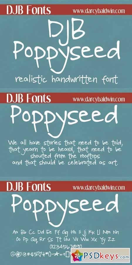 DJB Poppyseed Font 253678