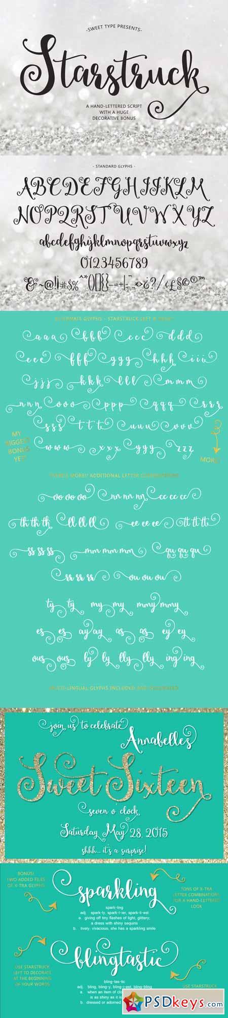 Starstruck hand-lettered script 256332