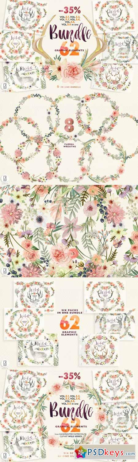 Floral BUNDLE. Wild complete Vol.5 246755