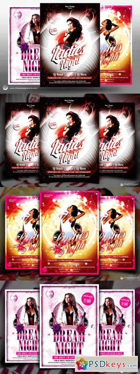 Ladies Night Flyer Bundle V1 253471