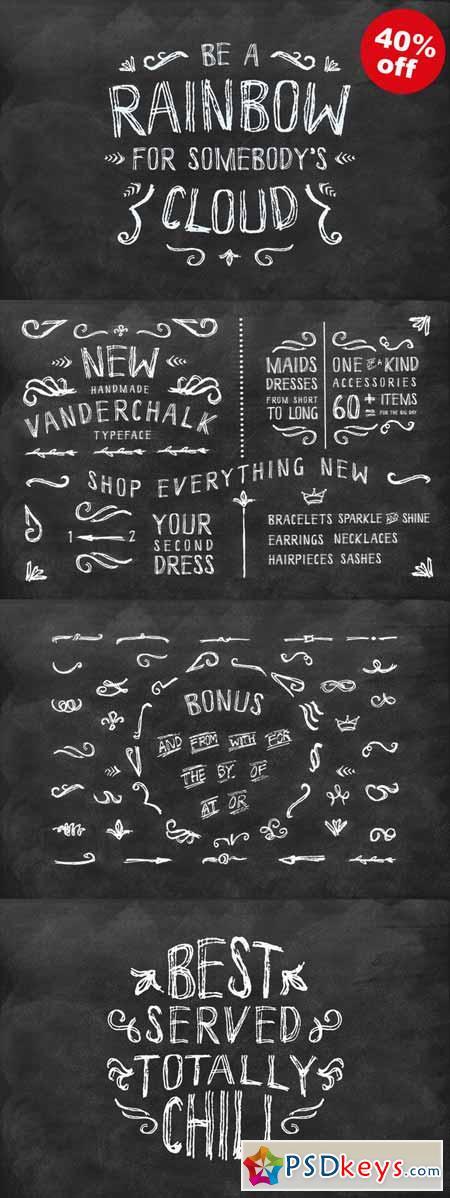Vanderchalk typeface 84930