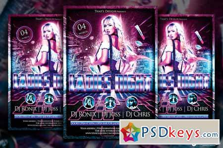 Urban Ladies Night Flyer Template 90535