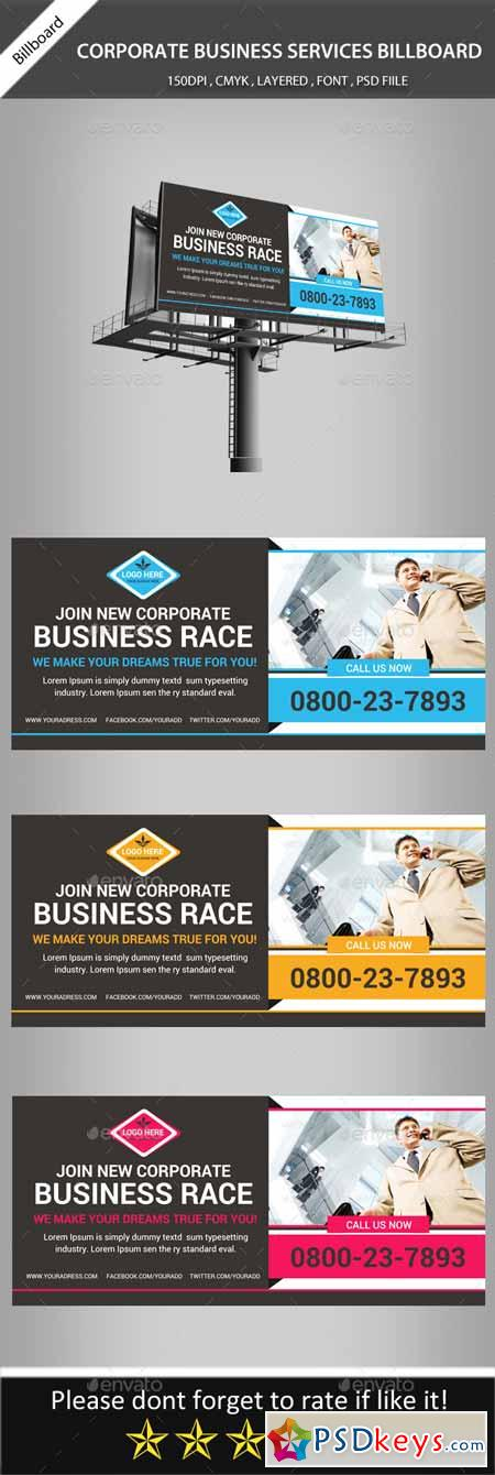 Corporate Business Billboard Banner Psd Template 11298127 » Free ...