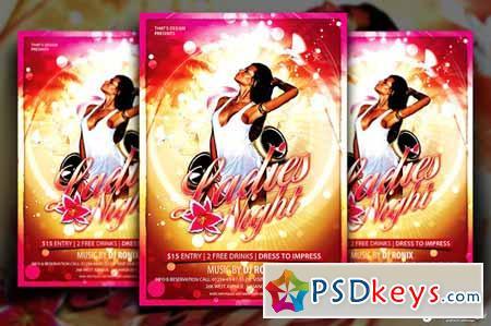 Sensual Ladies Night Flyer Template 90010