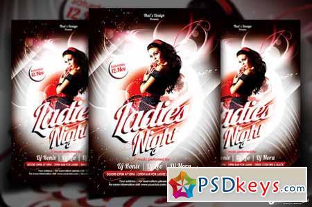 Ladies Night Flyer template 90015