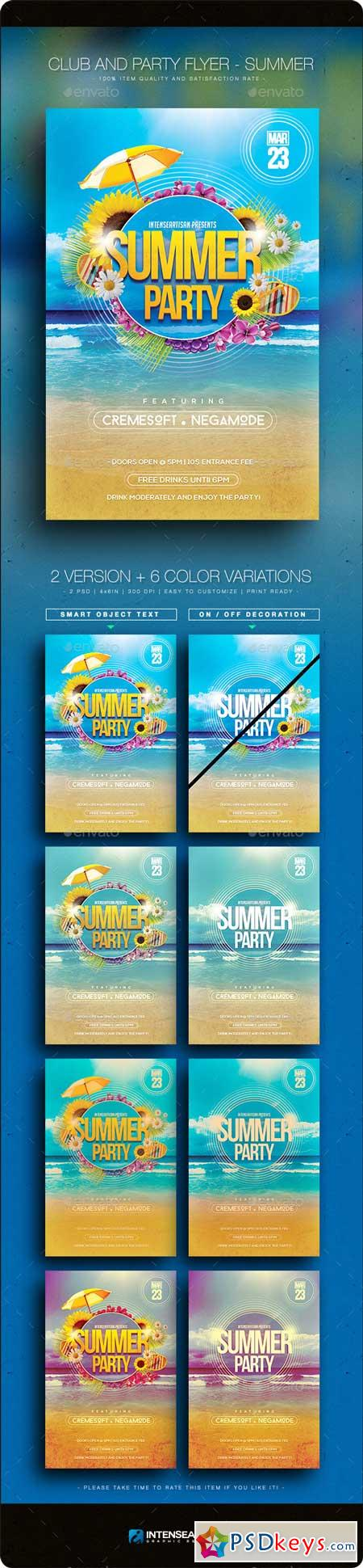 Summer V.2 - Club And Party Flyer 10806161