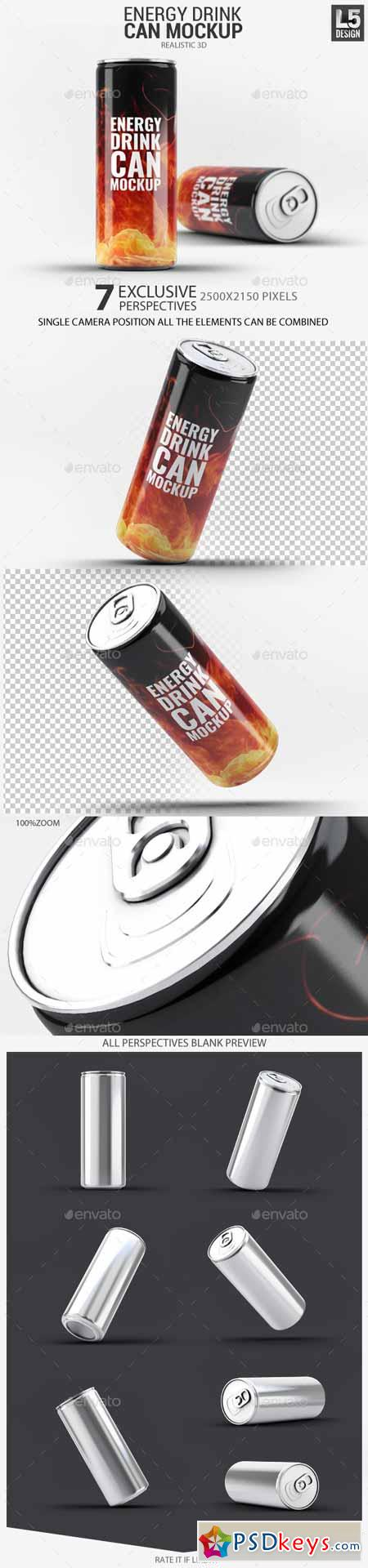 Energy Drink Can Mock-Up 11315680