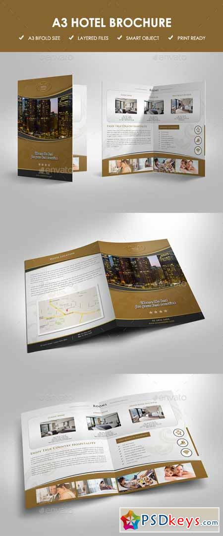 Hotel bifold brochure 11303438 free download photoshop for Hotel brochure templates free download
