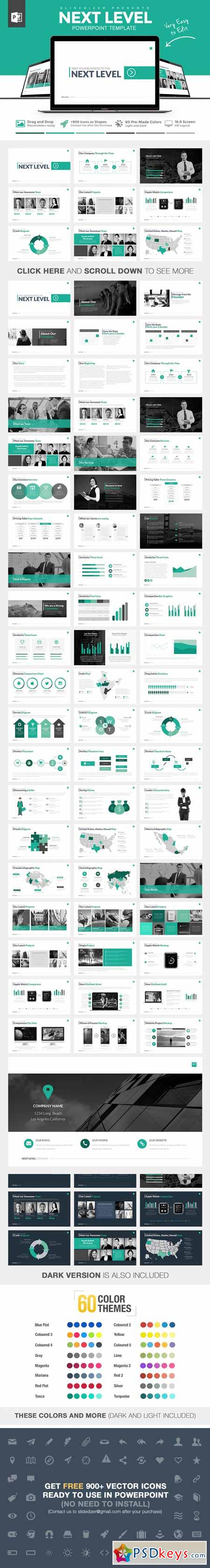 Next Level Powerpoint Template 263297