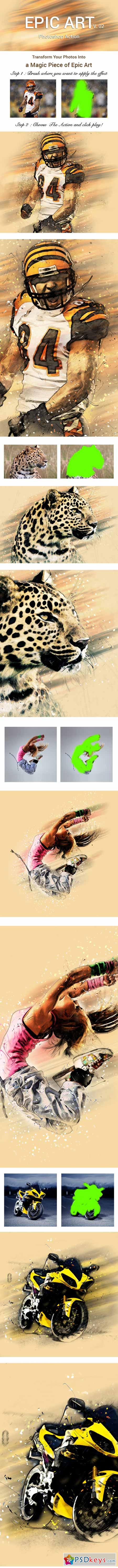 Epic Art 2 Photoshop Action 11190522