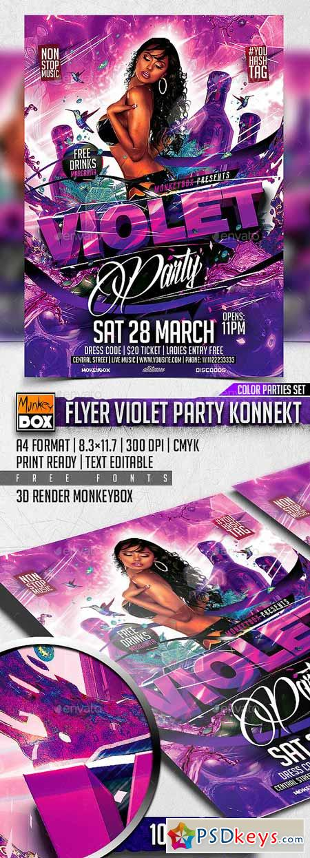 Flyer Violet Party Konnekt 10870245