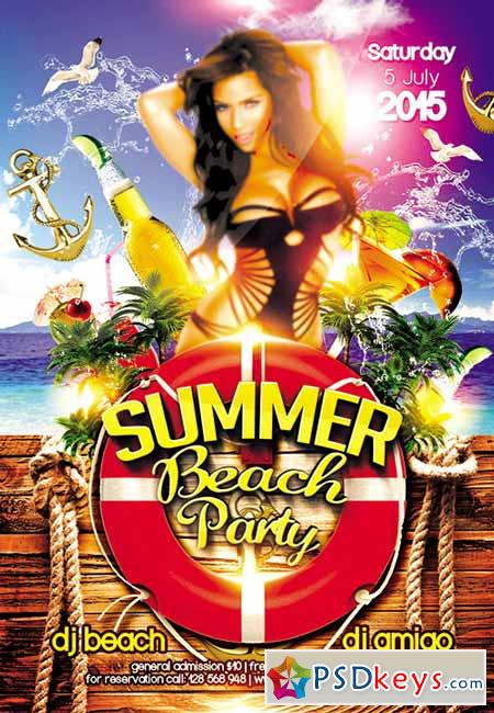 Pool Party Flyer Templates Radioincogible