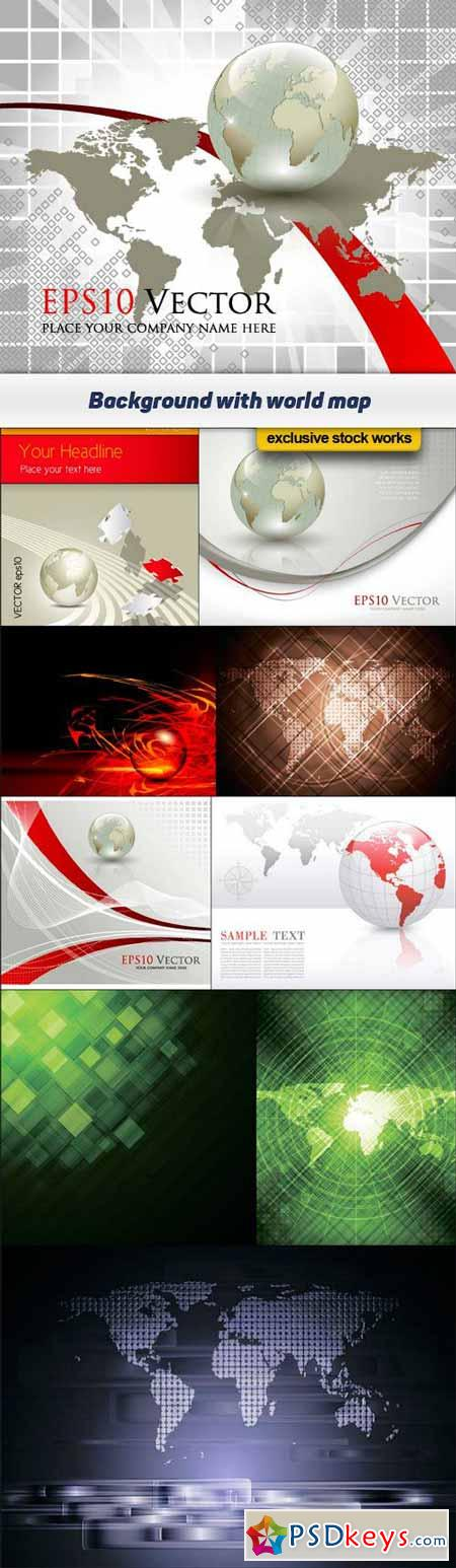 Background with world map vector illustration 10x eps free background with world map vector illustration 10x eps gumiabroncs Choice Image