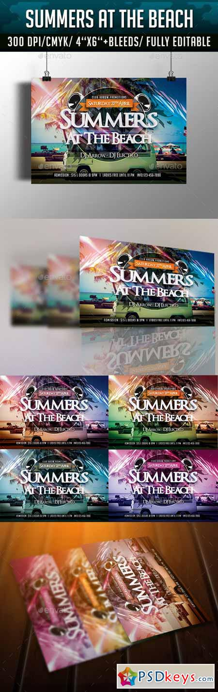 Summers at the Beach Flyer Template 10949615