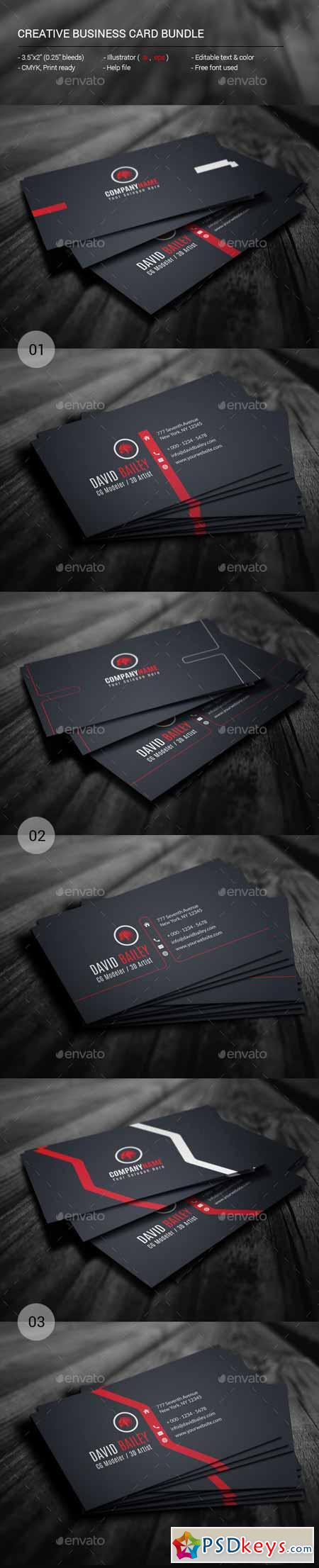 Creative business card bundle 11364589 free download photoshop creative business card bundle 11364589 reheart Images
