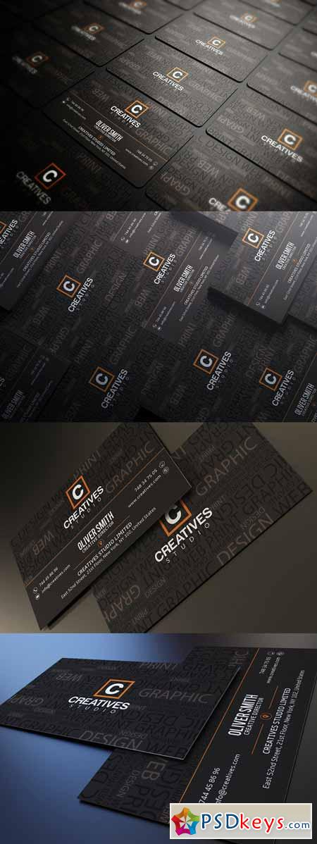 Typography Business Card 270456